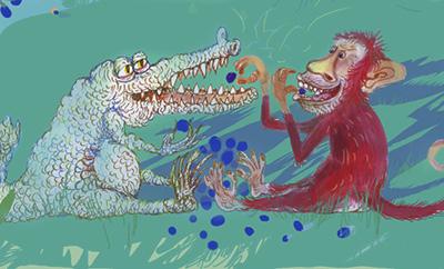 Apen og krokodillen