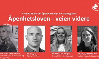 Panelsamtale: Åpenhetsloven - veien videre 1